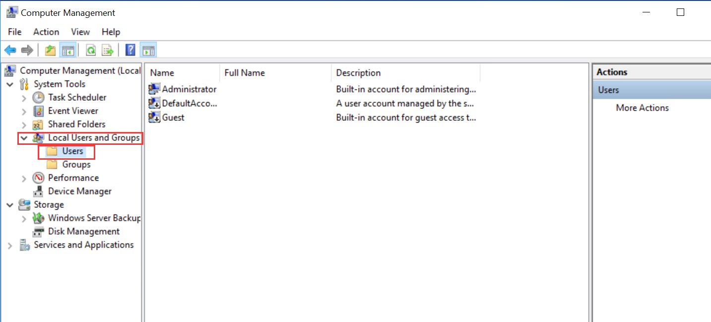 How do I change the Administrator password on a Windows server?