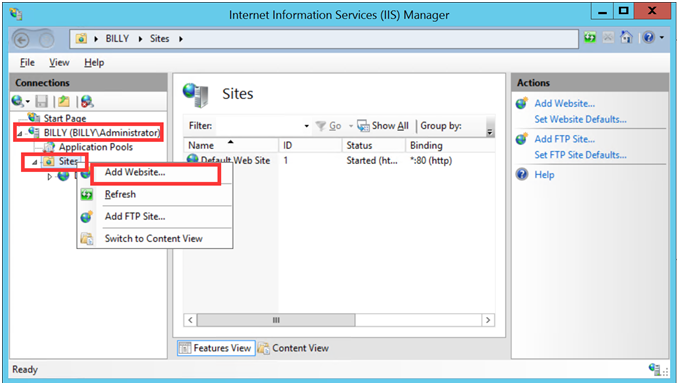 How to Add a New Web Site in IIS Manually - Database Mart