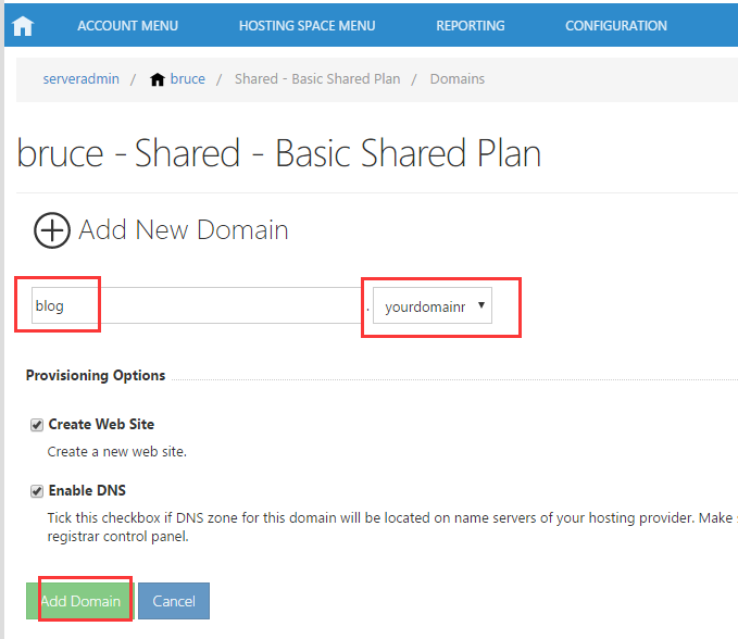 How to Add Domain and Subdomain in WebsitePanel - Database Mart