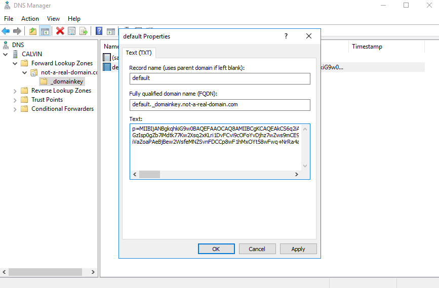Email Signing with DKIM Key and DMARC Record - Database Mart